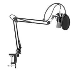 Suporte p/ microfone condensador + Shock Mount + Pop Filter