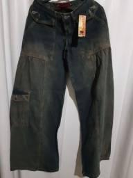 Calça jeans pantalona tam 34