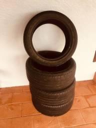Vendo 4 pneus usados, R17 /225 perfil 45