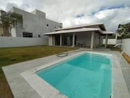 Casa Nova! Cond. Vilas do Jacuípe, 3/4, piscina, 420m2, Beira Rio, Financia!