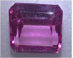 rubi autentico cor de rosa para anel