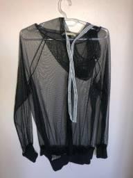 Jaqueta transparente brilho