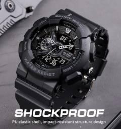 Relógio Skmei Preto Analógico e Digital À Prova D'água Original Estilo G-Shock