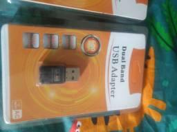 Adaptador wifi dual band 2,4ghz e 5ghz
