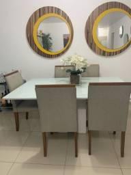 Mesa com 6 cadeiras comprada na oficina desainer.