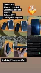 iPhone 11 preto 64 G  3.500