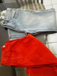 Bermuda Calça Jeans Original Grife Oito Anos Os Dois Pôr $80 Usada Uma Vez