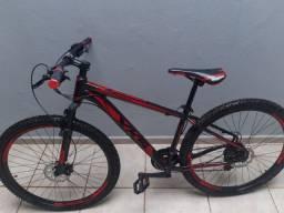 Bicicleta Aro 29 XKS Freio a Disco Hidráulico 21 Marchas - vermelha e Preto
