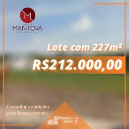 Terreno para venda - Condomínio Jardim Mantova - 227m²