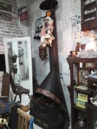 Lareira de cobre e ferro