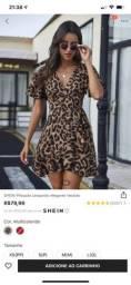 Vestido plissado leopardo