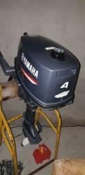 Motor Yamaha semi novo de 4 HP usado poucas vezes telefone de contato *