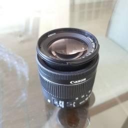 Lente Canon 18 55 super nova ainda na garantia de fábrica