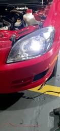 Troca de iluminacao automotiva leds xenon lampadas