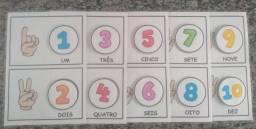 Alfabetização - Atividade pedagógica plastificada