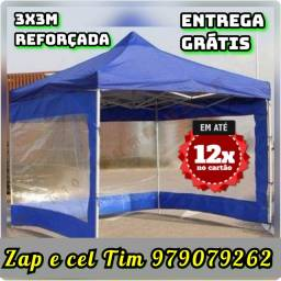 Tenda 3x3m reforçada com as laterais