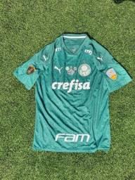 Camisa Palmeiras I c/patchs campeão Libertadores 2020 Breno Lopes 19
