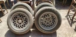 Roda - conjunto de 4 rodas liga leve Opala Chevrolet