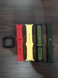 Pulseiras + case proteção Apple watch series 5 44m.