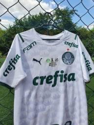 Camisa Palmeiras II c/ patchs campeão Libertadores 2020
