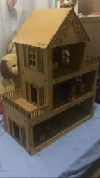 Casinha de boneca mdf Polly