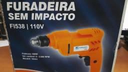 Furadeira sem Impacto Vel. Variável e Reversível 10 mm 500W 110V - Tool Mix-FI538 (Nova)
