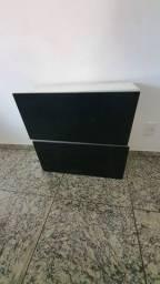 Vendo armário multiuso preto, conservado,  preço desapego