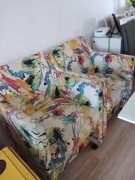 Mesa ,4 cadeiras,2 bancadas e 2 poltronas