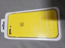Capa iIphone 7 plus e 8 plus amarela