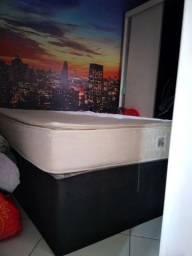 Cama box + colchao ortobom