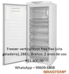 Freezer vertical frost free flex brastemp