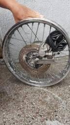 Roda traseira crosser freio a disco