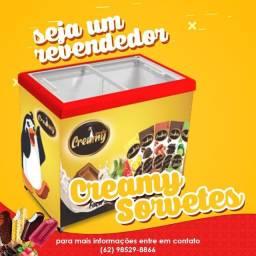 Seja nosso revendedor, Picolé R$0,75, sorvete, açaí