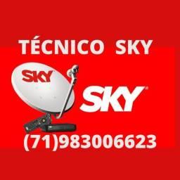 Instalação de antenas da sky