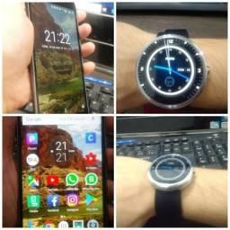 Celular Moto G4 16 GB Original e Relógio Smartwatch Moto 360 da Motorola