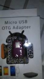 Adaptador OTG para usar o pendrive direto no celular