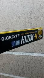 Placa mãe S1151 Gigabyte H110m-h Ddr4/vga/hdmi/usb3.0