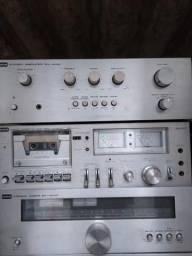 Som modulado cce amplificador,tuner e tape deck