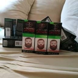 Beard Growth kit com 3 frascos potencializador faz barba e pelos crescer