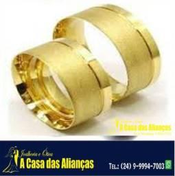 Alianças Novas para noivado e Casamentos Ouro 18 Kilates