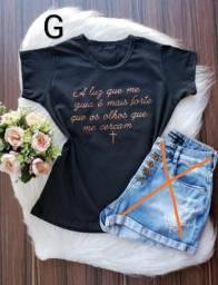 T-shirts 100% algodão