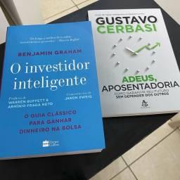 Livros Investimentos O Investidor Inteligente (Graham) e Adeus, Aposentadoria (Cerbasi)