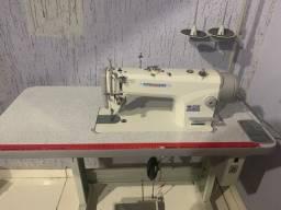 Maquina costura reta direct drive com corte de linha mega
