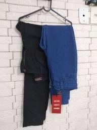 Calças Jeans, novas. E sandália Zappato