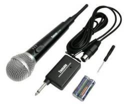 Microfone sem fio metal 2 em 1