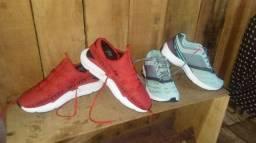 Vendo bem baratinho 70 reais tenis adidas vermelho semi novo *