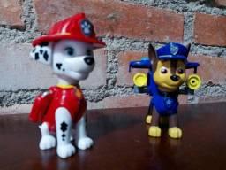 Boneco Chase Original + Boneco Marshal Original Patrulha Canina