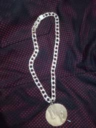 V/T cordão de prata banhado