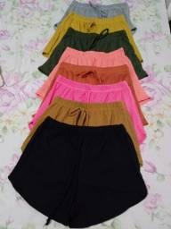 Shorts de várias cores