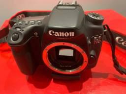 Maquina Fotografica Canon 70D muito nova